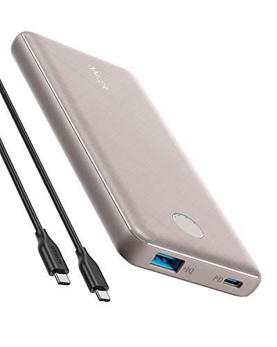 Anker Powerbank, PowerCore Slim 10000 PD kompakte 10000mAh mit USB-C Power Delivery (18W) kompatible mit iPhone 8/8+ / X/XS/XR/XS Max, Samsung Galaxy S10, Pixel 3 / 3XL, iPad Pro 2018