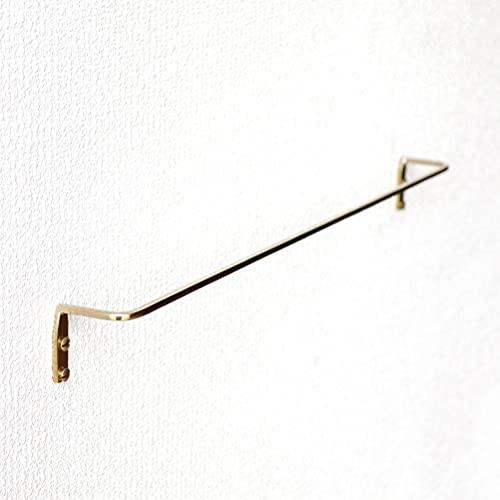 タオルハンガー 壁 真鍮 おしゃれ かわいい 洗面所 細身 タオル掛け 北欧風 ブラスタオルレール L