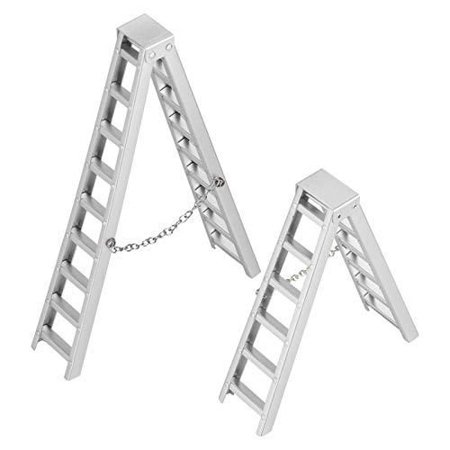 Demeras Práctico Control Remoto Mini RC Crawler Ladder Aluminio Superior RC Car Ladder RC Escalera para 1/10 Scale RC Crawler Car
