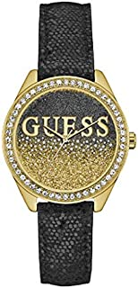 ساعة جيس عصرية للنساء، هيكل ستانلس ستيل، مينا بلون اسود، انالوج - W0823L6