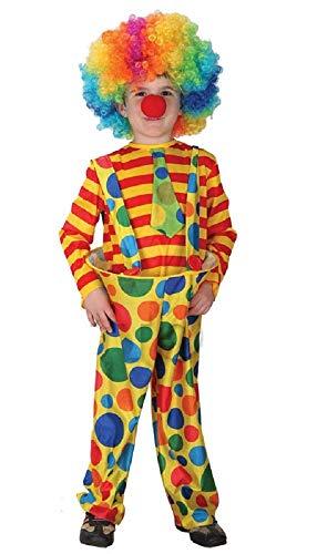 Maat l - 5/6 jaar - kostuum - vermomming - carnaval - halloween - circus dikke clown - gele kleur - kind