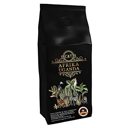 Kaffeespezialität Aus Afrika - Uganda Im Östlichen Zentralafrika (1000 Gramm,Ganze Bohne) - Länderkaffee - Spitzenkaffee - Säurearm - Schonend Und Frisch Geröstet