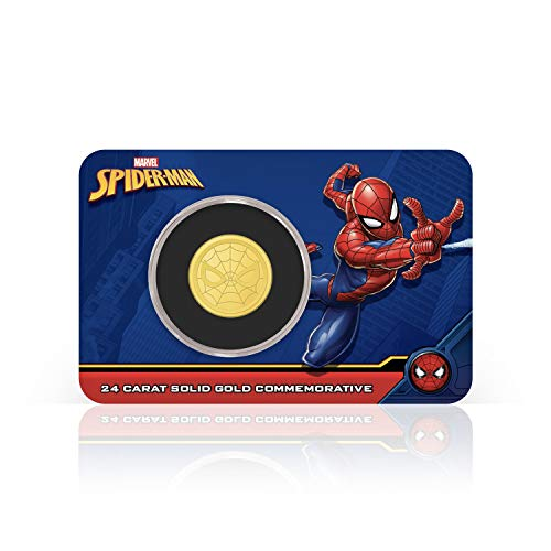 IMPACTO COLECCIONABLES Spider-Man Marvel Offizielle Gedenkmünze - Reines Gold 18mm