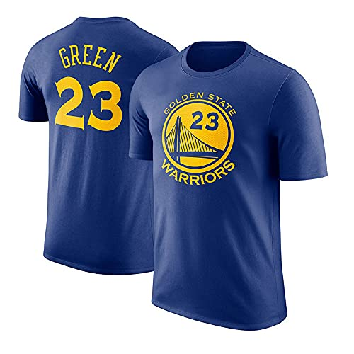 YZQ Camisetas para Hombre, Golden State Warriors # 23 Draymond Green NBA Baloncesto Camisetas Chalecos Casuales Tops Transpirables De Manga Corta,Azul,L(170~175CM)