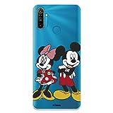 Funda para Realme C3-6i - 5i Oficial de Clásicos Disney Mickey y Minnie Posando para Proteger tu móvil. Carcasa para Realme de Silicona Flexible con Licencia Oficial de Disney.