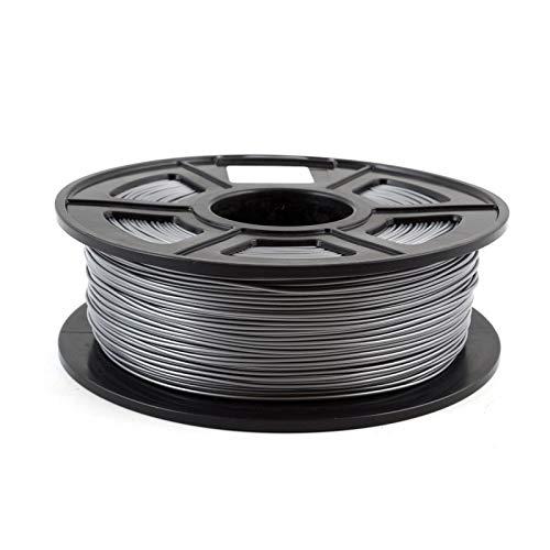 CCH-YS Materiales, 1pc Impresora 3D de filamentos 1.75mm PLA PETG TPU de Nylon de Fibra de Carbono conductivo ABS PC Pom ASA Madera Hips PVA plástico Filamento (Color : PLA Silver)