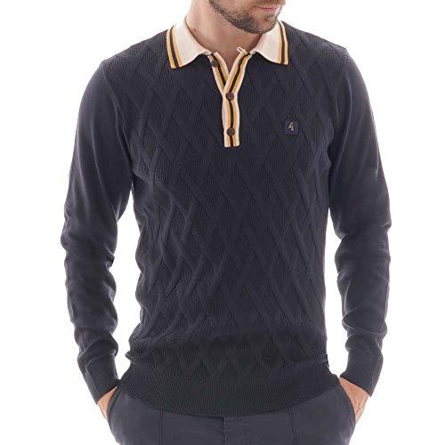 Gabicci Bretton Long Sleeve Polo Shirt | Navy XLarge