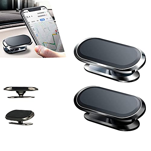 Gsdxz Universal Magnetic Flex Car Phone Holder, 2 PCS 360° Magnet Cell Phone Car Stand Mount Holder for iPhone And Most Smart Phones (Black)