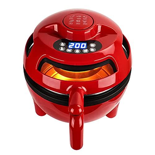 RHSMW Freidora Sin Aceite, 4.5 Visualización Inteligente Sin Freír Cocina Baja En Grasa Circulación De Aire Calefacción Horno Fritas Francesas,Intelligent