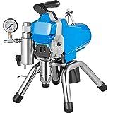 Husuper Pulverizador de Pintura sin Aire de Alta Presión Máquina de Pulverización de Pintura 2000W 2.5L/Min para Barcos Puentes Torres y Postes
