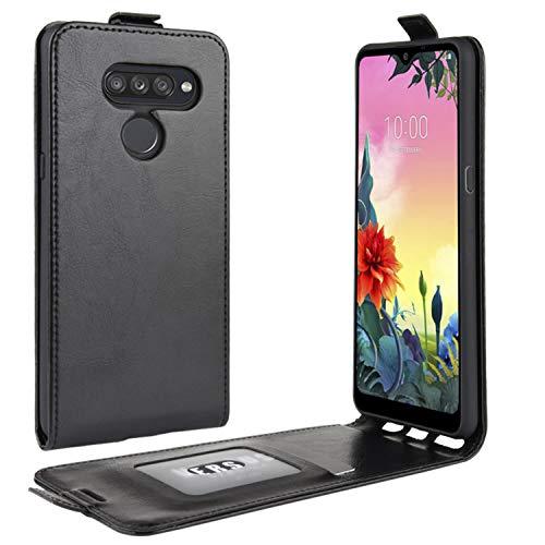 HualuBro LG K50S Hülle, Premium PU Leder Brieftasche Schutzhülle HandyHülle [Magnetic Closure] Handytasche Flip Hülle Cover für LG K50S Tasche (Schwarz)