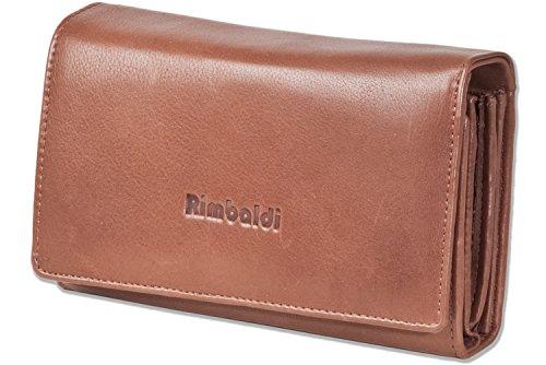 Rimbaldi-Portafoglio da donna estremamente spazioso, in pelle bovina naturale, marrone (Marrone) - 2051607