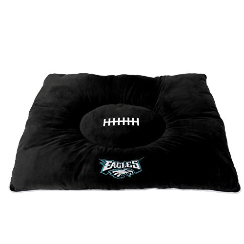 NFL PET Bed - Philadelphia Eagles Soft & Cozy Plush Pillow Bed. - Football Dog Bed. Cuddle, Warm Sports Mattress Bed for Cats & Dogs