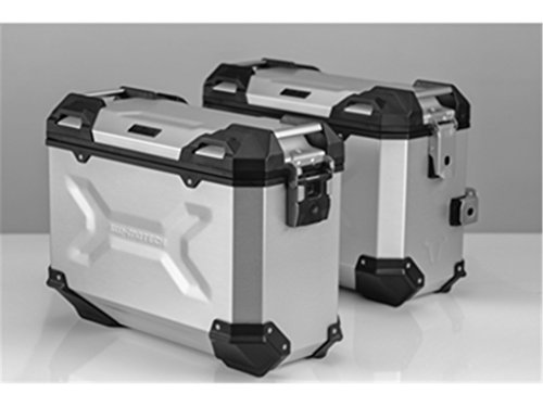 SW-MOTECH - Sistema de maletas TRAX ADV Plateado. 45/37 l. Kawasaki KLR 650 (08-).