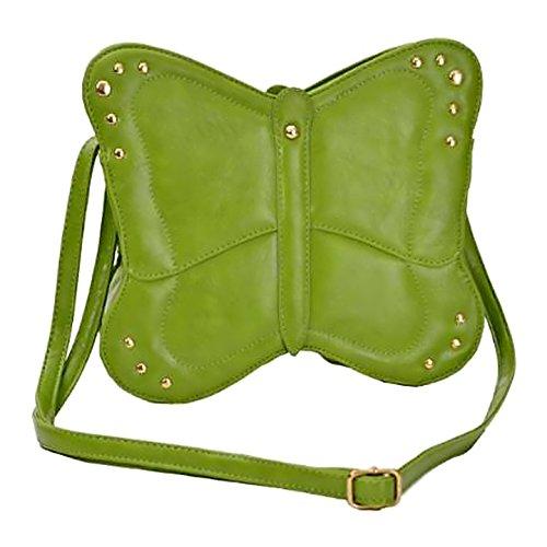 Eye Catch Phoebe Schmetterling Frauen Cross Body Kunstleder Mini Umhängetasche Damen Handtasche Grun