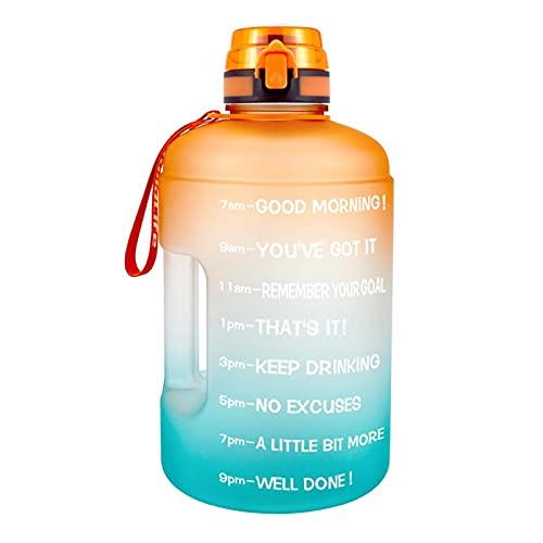 ZZDH Botella de Agua Deportiva 128Oz 73oz 43Oz Sport Big Bip Bottle Water Bottle with Filter Net Fruit Infuse BPA Botellas de Bebidas Gratis Adecuado para Fitness, Deportes al Aire Libre