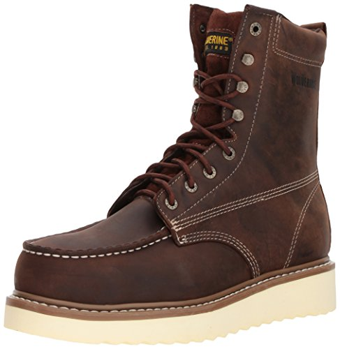 Wolverine Men's Loader 8' Steel Toe Wedge Work Boot, Brown, 10.5 M US