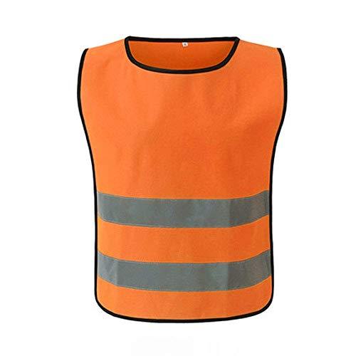 NZQLJT Chaleco Trabajo Seguridad en el Trabajo Chaleco Protector, Chaleco Reflectante, Sitio de construcción Noche de construcción Chaleco de Alta Visibilidad (Size : Fluorescent Orange(M))