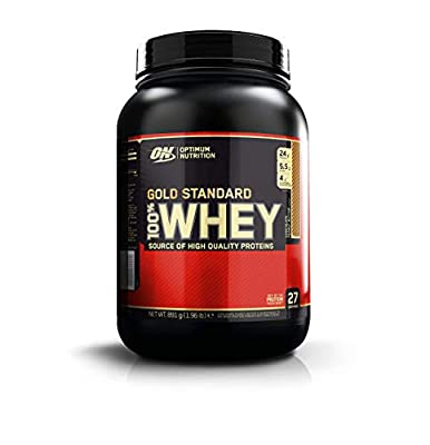 Optimum Nutrition Gold Standard Whey Protein Powder Muscle Building Supplements with Glutamine and Amino Acids, Chocolate Peanut Butter, 27 Servings, 891 g