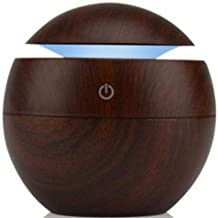 Air Aroma Essential Oil Diffuser LED Ultrasonic Aroma Aromatherapy Humidifier - Brown