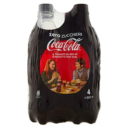 Coca-Cola Zero Zuccheri Zero Calorie 660 ml - Confezione da 4 Bottiglie PET