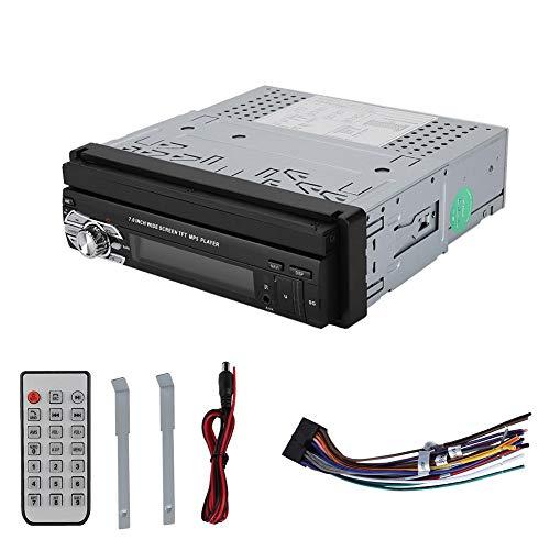 Lecxin MP5 Radio Player, 7In Telescopic Car Stereo-Single DIN MP5-SWM9601 Retrattile GPS Touch Screen Car Stereo Car Audio Car Audio Single DIN Audio