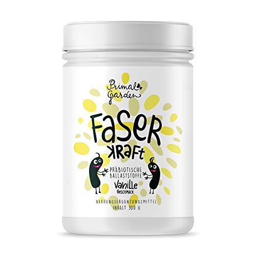 FaserKraft - Präbiotische Ballaststoffe   Darmgesundheit   Mit resistenter Stärke, Pektin, Inulin, Flohsamen, Beta Glucan und mehr!   Geschmacksrichtung Vanille   Vegan, zuckerfrei   300g