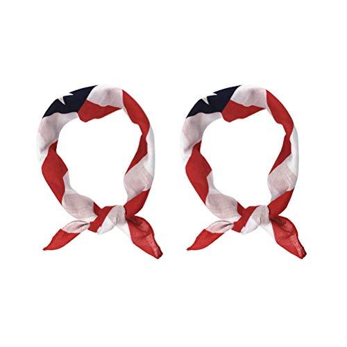 LIOOBO 2 stücke Nationalflagge Haarband DIY Tuch Halstuch Platz Schal Hals Kapuze für Männer Frauen