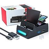 WATSABRO Nintendo Switch Tv Docking Station, Switch Dock UnterstüTzt Typ C Schnelllade Und Kompatiblen Usb2.0/Usb3.0 Anschluss, Switch Hdmi Adapter Geeignet Für Reisen/Abendessen/Party(Stores 4 Games)