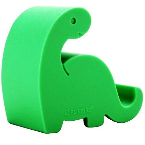 Soporte para teléfono de Escritorio Plinrise con diseño de Rayas de Dinosaurio y Silicona, Soporte para teléfono Creativo, Soporte para Tableta, tamaño: 3,3 x 3,3 x 2,8 cm