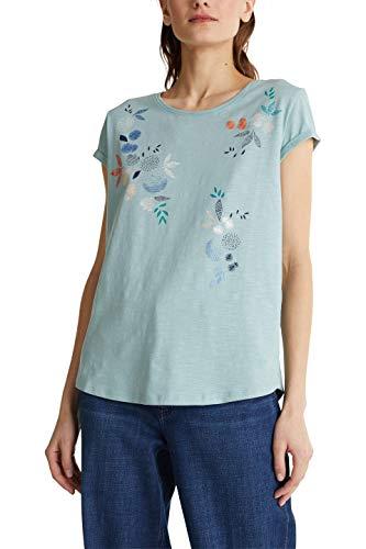 ESPRIT 040ee1k396 T-Shirt, 390/Light Aqua Green, L Donna