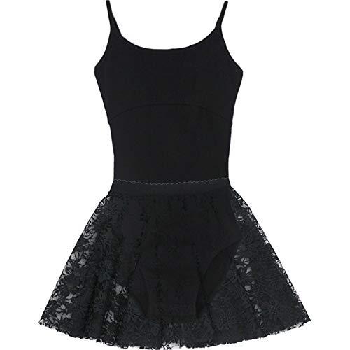 PQXOER Meisjes dansjurk Camisole balletjurk rokje tricot tutu jurk zonder mouwen kruis uithullen terug Ballerina Dance Wear danskleding