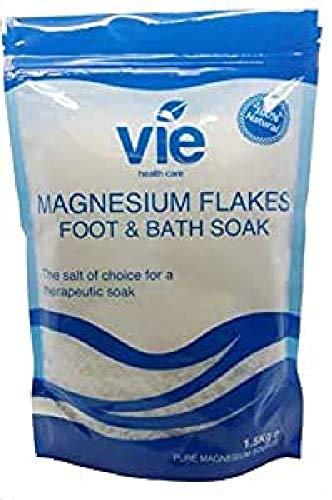 VIE Healthcare Magnesium Salzflocken Einfach wiederverschließbarer Beutel, 1520 g