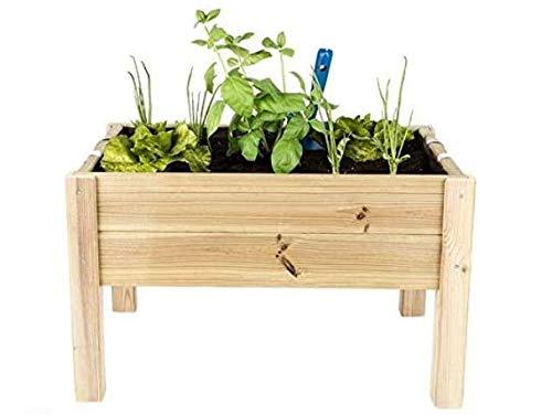 verdecora | Kit de Cultivo Huerto Urbano 60x40x40cm - Kit de Cultivo en casa - Huerto Urbano Madera - Huertos Urbanos - Mesa de Cultivo huerto Urbano