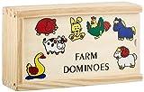 """small foot 7094 Domino """"Farm"""" klein aus Holz, mit süßen Bauernhof-Tiermotiven, in einer Holzbox mit Schiebedeckel"""