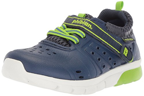 Stride Rite Boys' Made2Play Phibian Lighted Water Shoe, Blue/Blue, 9 Medium US Toddler