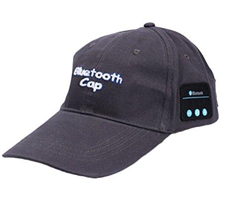 Leisial Hombres Gorro Bluetooth de Algodón Inalámbrico Gorra de Béisbol de Verano con Auriculares Bluetooth Estéreo Deportiva Sombrero para el Sol Color Negro para Unisex-Adult