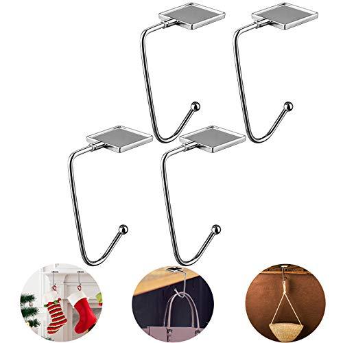 GANAMODA Handtaschenhalter Taschenhaken für Tisch, Tragbarer Halter Haken für Weihnachtsstrumpf Kamin Partys Festivaldekor und Geschenke für Frauen Mädchen, 4 Stück