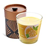 Océu Scented Candles - Luxury Organic Scented Soy Wax Lemon Jar Candle, Slow Burning & Hand Poured Aromatherapy Candles for Home, Birthday Gifts for Women (9.5 Oz)