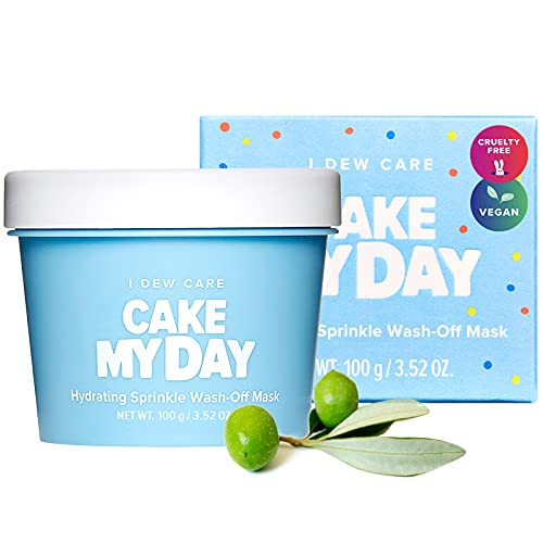 I DEW CARE Cake My Day Hydrating and Refreshing Wash-Off Facial Clay Mask with Hyaluronic Acid   Korean Skin Care Face Mask, Face Moisturizer To Plump, Nourish And Moisturize Skin   Birthday gifts for