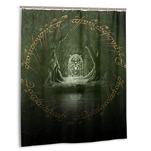 Meili Lord Rings Duschvorhang mit Haken Waschbare wasserdichte Badezimmerdekorationen für Badezimmerduschen 60x72in