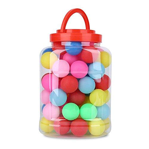 Alomejor 60 Stück Tischtennisbälle Spaß Bälle 40mm Farbige Ping Pong Bälle Plastikspielzeug Tischtennisbälle Lotterie Spielzeug Bälle