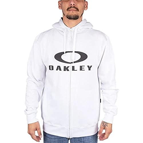 BLUSA MOLETOM OAKLEY BARK F/Z HOODIE Cor:Branco;Tamanho:G