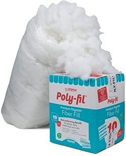 Fairfield 10-Pound Poly-Fil Premium Polyester Fiber, White | Smooth Consistency (10-Pound) (10-Pound)