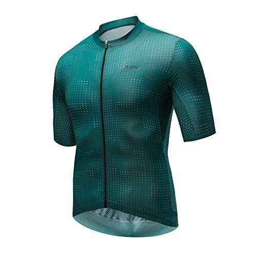 Men Cycling Jersey 2021 Short Sleeve MTB Road Bike Jersey Stripes Breathable Mountain Bicycle Jersey (Color : 3, Size : M)