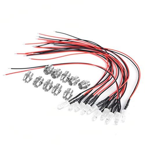 Diodo LED, bajo consumo de energía Diodo emisor de luz con ahorro de energía, para decoraciones de automóviles Indicador de señal de linterna(White hair)