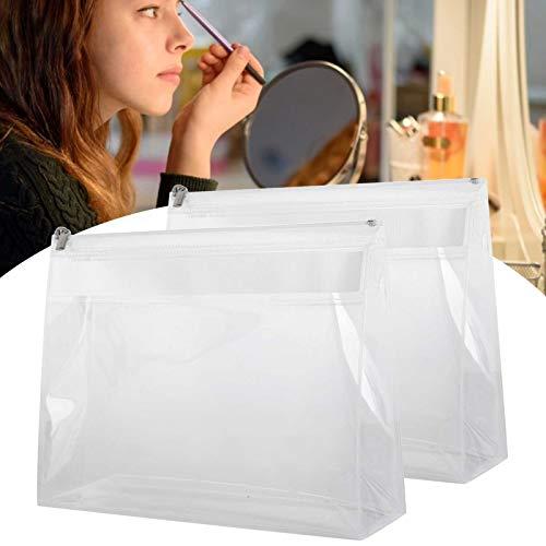 Neceser de viaje, 2 uds, Transparente impermeable transparente de EVA cosmético estuche para secador de pelo portátil de viaje para almacenamiento de cosméticos neceser de lavado neceser