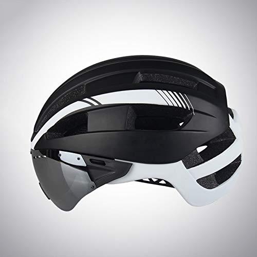JICCH 1 Piezas Montaña Casco de Ciclismo Bicicleta Casco Seguridad Ajustable Desmontable Deporte Gafas de Protección Ligera para Montar Ski & Snowboard Unisex Cascos Bici Adultos