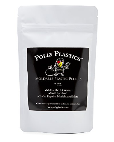 Moldable Plastic Pellets by Polly Plastics   Thermoplastic Beads   Cosplay, Projects, Repairs (7 oz)