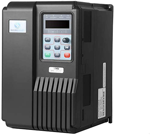 LAPOND High Performance VFD Inverter VFD Drive 7HP 5.5KW 220V,Variable Frequency Drive for Motor Speed Control,SVD-PS Series(5.5KW)